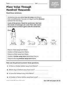place value worksheets to ten thousands 5287 place value through hundred thousands learners 1 7 worksheet for 2nd 3rd grade
