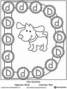identifying letter d worksheets 24229 recognize uppercase and lowercase letter d myteachingstation