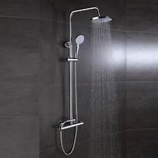 thermostat dusche wird nicht warm duschsystem mit thermostat mischer duschventil riser