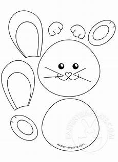 Bunny Craft For Preschool Easter Template