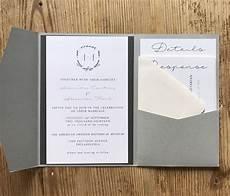 my diy story gray monogram pocket invitations cards