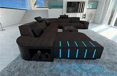 sofa led fabric sectional sofa bellagio xxl design couch with led
