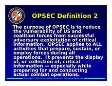 opsec level 1 the question word that describes a time conley group opsec presentation