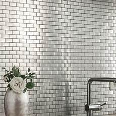 Fliesen Mosaik Küche - edelstahl mosaik fliesen silber 23x48x8mm fliesenspiegel