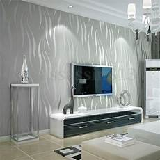wohnzimmer tapete modern 10m silver 3d non woven wave stripe embossed wallpaper