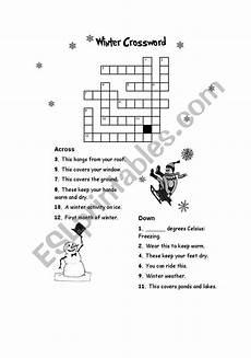 winter crossword worksheets 19981 winter crossword esl worksheet by xaninha78