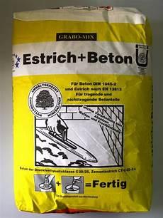 fertig estrich beton mischungsverh 228 ltnis zement