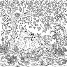 coloring pages animals in the forest 17029 deer forest coloring page digital by crista forest