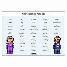 winter worksheets ks1 20027 winter adjectives word bank science eyfs ks1 ks2