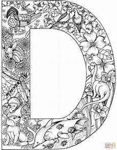 colouring pages for adults of animals letters 17309 letter d with animals coloring page free printable coloring pages