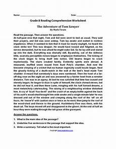 free printable reading comprehension worksheets for 8th grade worksheets reading comprehension worksheets grade 8 plantsvszombiesonline free worksheets for