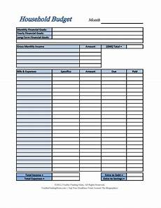household budget template free download create edit fill and print wondershare pdfelement