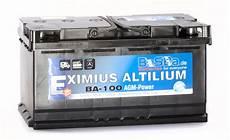 agm batterie ba100 100ah 12v 1000a startstop wohnmobil