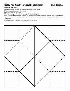 paper fortune teller printable worksheets 15712 science foldable templates healthy play activity playground fortune teller blank template