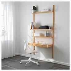 svaln 196 s wall mounted workspace combination bamboo 33 7 8x13 3 4x69 1 4 quot ikea cheap
