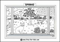 four seasons coloring worksheets 14776 seasons colouring pages