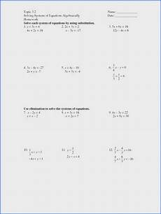 algebra worksheets systems of equations 8578 solving systems of equations by elimination worksheet answers with work briefencounters