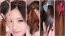 5 quick and easy back to school hairstyles youtube