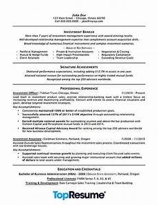 investment banking resume sle professional resume exles topresume