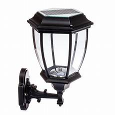 solar 12 led outdoor garden wall l sconce lantern light black walmart com