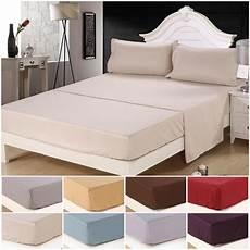 soft king size 4 piece bed sheet set bedding sets 1800 thread count deep pocket ebay