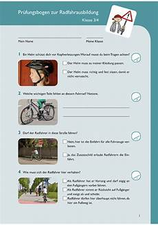 fahrradprüfung 4 klasse fragebogen pr 252 fungsbogen zur radfahrausbildung kaufen im