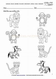 animal worksheets free 14275 jungle animals worksheet activity sheet match 7 jungle animals preschool kindergarten