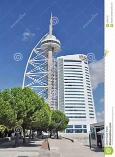 vasco fotografie de toren vasco de gama in lissabon redactionele