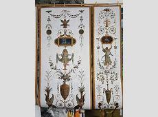 Grotesque panel   XVIIIth century   Wallpaper #4   Papiers