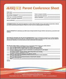 asq se 2 parent conference sheet ages and stages