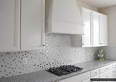 white glass metal backsplash tile pearl granite