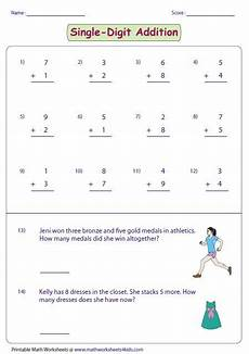 one digit addition worksheets with pictures 9629 25 best images about what s new on fractions worksheets calculus and rounding