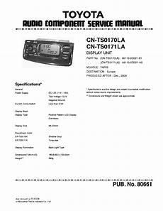 car repair manuals online pdf 2009 toyota yaris electronic throttle control matsushita toyota yaris cn ts0170la ts0171la sm service manual download schematics eeprom