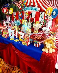 The Dessert Table At This Circus Carnival Birthday
