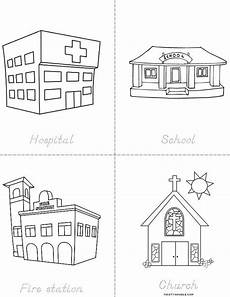 coloring pages places in town 18038 my community places book twisty noodle