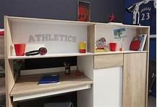 bureau lit combiné lit combin 233 enfant contemporain ch 234 ne brut blanc sportwear