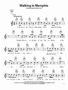 walking in memphis sheet music marc cohn ukulele