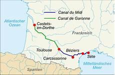 Auf Eine Le - file canal du midi map de svg wikimedia commons