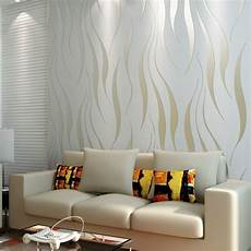 10m Roll Modern Wallpaper Style Beige White Beige White
