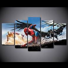 Amazon Com 10sets Of 5pcs 5 Pcs Set Hd Printed Movie Spider Man Homecoming Wall