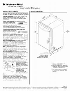 Kitchenaid Dishwasher Install Manual by Kitchenaid Kdte204epa Support And Manuals