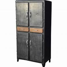 armoire bois metal armoire vintage en m 233 tal et bois 1950 design market