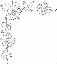 Gratis Malvorlagen Blumen Eckverzierung Blueten Ausmalbild Malvorlage Blumen