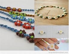 fabriquer bracelet perle bracelets diy avec des fleurs naturelles en papier et en perles bracelets br 233 siliens