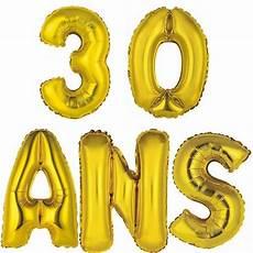photo 30 ans 1 kit de 5 ballons aluminiums anniversaire 30ans or