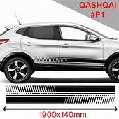 Nissan Qashqai Racing Side Stripes Stickers Decal Tuning