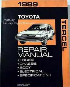 free car repair manuals 1989 toyota truck xtracab sr5 parking system 1989 toyota tercel factory service manual original shop repair book ebay