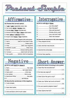free present simple worksheets