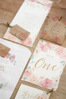 wedding stationery pastel watercolour peonies just my type