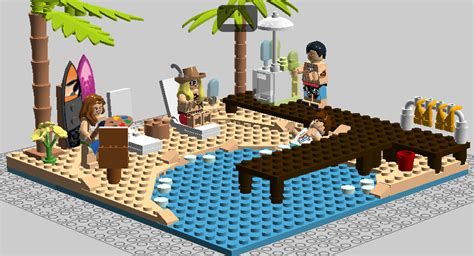 Lego Beach Party By 1999317 On Deviantart